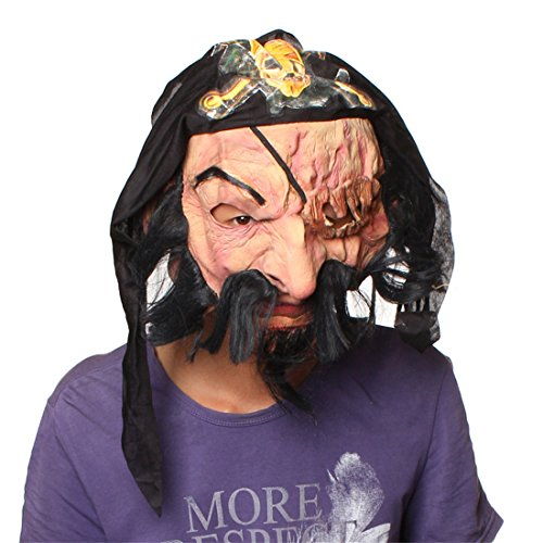 Halloween Masquerade Party Costume Cosplay Bloody Caribbean Pirate Skull Face Mask