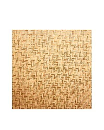 Brewster Li Qin Grasscloth Peelable Wallpaper, Beige