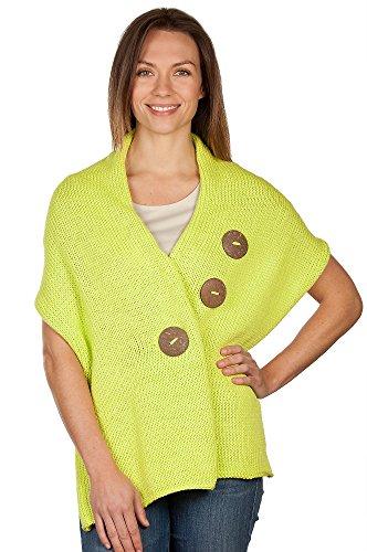 Handmade Cotton Button Wrap, 329 Lime, Size 1 Size