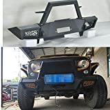 スチール 黒い VPR フロント オフロード ウインチ バンパー みがきます ガード ために Jeep ラングラー JK 2007+
