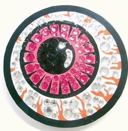 ARNY 目玉缶バッジミラー ピンク