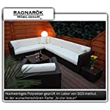 PolyRattan Lounge DEUTSCHE MARKE -- EIGNENE PRODUKTION 7 Jahre GARANTIE Garten Möbel incl. Glas und Polster Ragnarök-Möbeldesign...