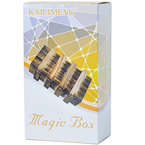 KAILIMENG Mini Wooden Magic Box with Two Secret Drawers - 1