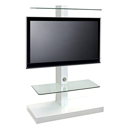 "Original Standmodell: L&C Jolly Tower 2 TV Standfuß Weiß - Empfohlene TV-Größe: 32"" - 55"" (82 - 140 cm) - VESA 200x200 200x300 300x300 400x200 400x300 400x400 600x200 600x400 mm"