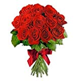 Indian Gift Emporium Natural Exotic Red Roses (Bunch of 24)