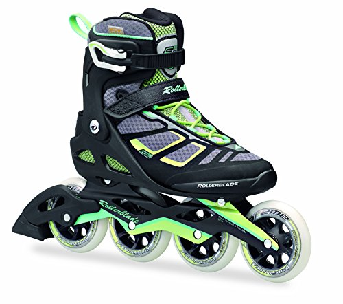 Rollerblade-1617-Macroblade-100-High-Performance-FitnessWorkout-Skate-BlackLight-Green-US-Size-65