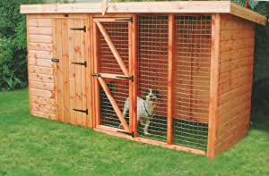 Garden Dog Kennel + Run. 4ft Kennel, 6ft Run UK Mainland Only Delivery