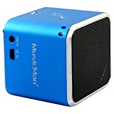 "MusicMan TXX3808 mini Wireless Soundstation BT-X2 (MP3 Player, Bluetooth) blauvon ""MusicMan"""