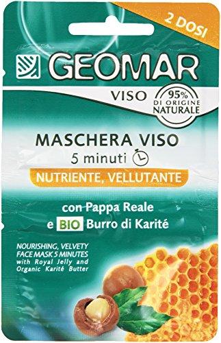 Geomar - Maschera Viso, Nutriente, Vellutante, 2 x 7.5 ml - 15 ml