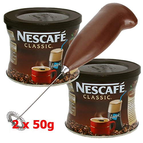 GREEK FRAPPE coffee 2x50 gr NESCAFE Classic & Hand Mixer - Frother (Nescafe Frappe Mixer compare prices)