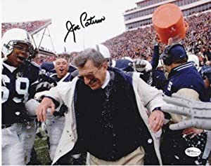 Joe Paterno Autographed Hand Signed Penn State Nittany Lions 8x10 GATORADE DUMP Photo... by Real+Deal+Memorabilia