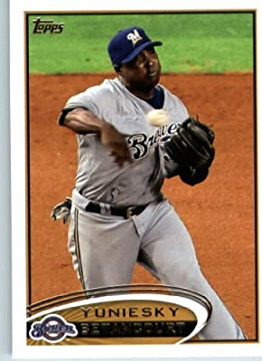2012 Topps Baseball Card #57 Yuniesky Betancourt - Milwaukee Brewers - MLB Trading Card