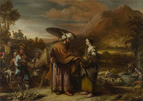 [Oil Painting 'Gerbrand Van Den Eeckhout Rebekah And Eliezer At The Well ' Printing On Polyster Canvas , 30 X 42 Inch / 76 X 108 Cm ,the Best Dining Room Artwork And Home Decoration And Gifts Is This Reproductions Art Decorative Prints On] (Van Gun X Sword Costume)
