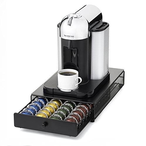 Nifty 6145 nespresso vertuoline capsule drawer for coffee machines black new - Tiroir rangement capsules nespresso ...
