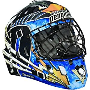 Franklin NHL Team SX Comp GFM 100 Youth Goalie Face Mask - Pittsburgh Penguins
