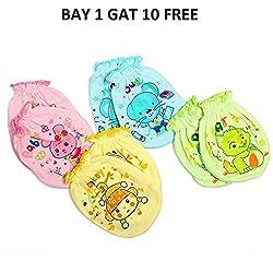 Baby Bucket Printed Mittens(Pack of 4)(bye 1 get 10 free )