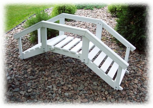 Prairie Leisure Decorative Garden Bridge with Post and Rails