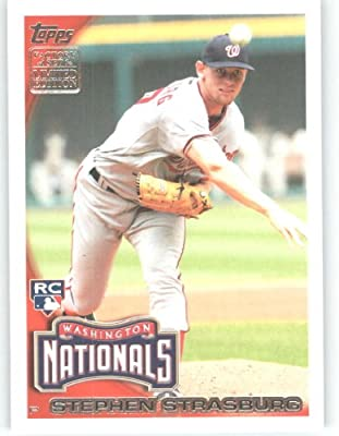 2010 Topps LIMITED EDITION HTA Holiday Factory Set Rookie Variation Baseball Card # RC7 Stephen Strasburg (Washington Nationals) MLB Trading Card in a Protective Screwdown Case