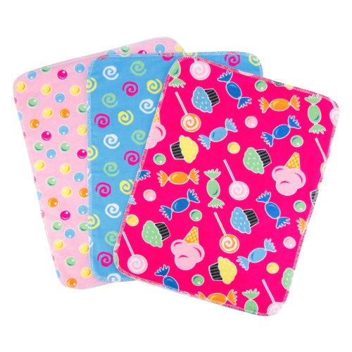 Trend Lab 3 Count Flannel Burp Cloth Set, Candy
