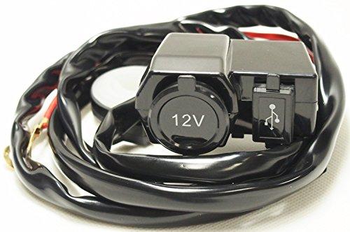 バイク用 汎用 シガーソケット 防水 防塵 12V USBポート 充電 パーツ(2個セット)