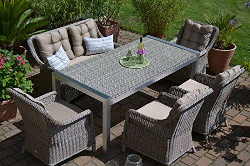Verkauf Gartenmöbel Set Tisch Bank Und 4 Sessel Rattan Polyrattan