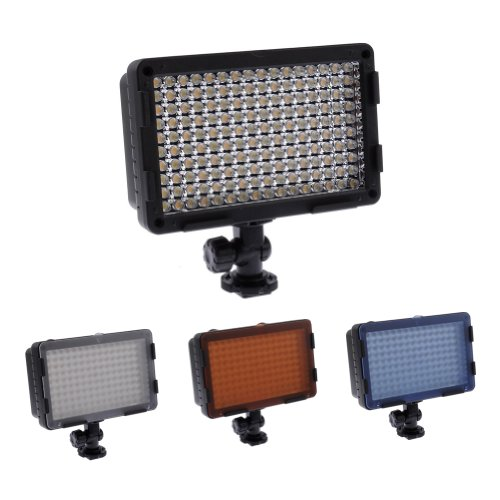 Neewer® Pro Cn-160Ca 160-Led Dimmable Ultra High Power Panel Digital Camera / Camcorder Video Light, Led Light For All Standard Iso 518-2006 Hot Shoe Cameras Canon, Nikon, Sigma Olympus, Pentax Panasonic Hitachi Samsung Fisher Dv Camcorder