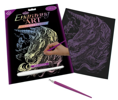 Royal and Langnickel Holographic Engraving Art, Unicorns