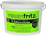 raumfritz M10 Schimmelhemmende Mineralfarbe 10 Ltr natürlicher Schimmelschutz auf Silikatbasis