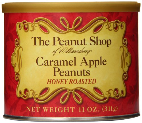 The Peanut Shop of Williamsburg Honey Roasted Peanut Tin, Caramel Apple, 11 Ounce