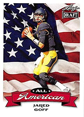 Jared Goff Football Card (California, Los Angeles Rams) 2016 Leaf Draft All American #AA-07 Rookie