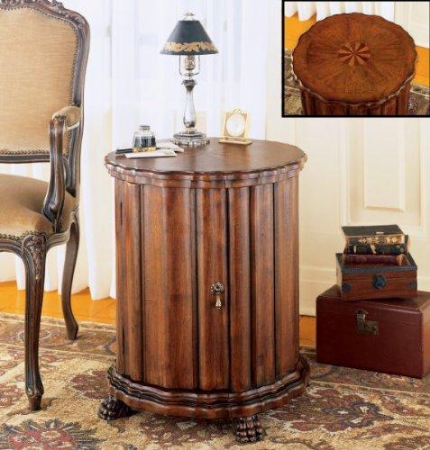 """Drum Table (Maple / Walnut / Cherry / Antique Brass) (24.5""""H x 22""""W x 22""""D)"""