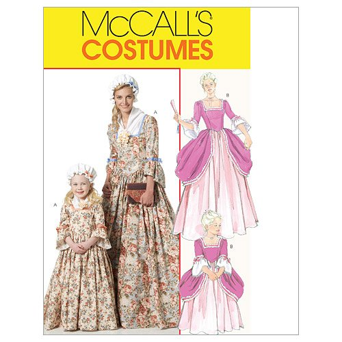 Mccall'S Patterns M6139 Misses'/Children'S/Girls' American Colonial Costumes, Size Kid [(3-4) (5-6) (7-8)]