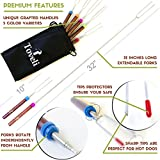 Marshmallow Roasting Sticks by Toveli - Delicates Telescoping Rotating Smores Skewers, 32 Inch Stick Ideal for Kids, Set of 5 Camping Hot Dog Forks for Campfire Cooking - Bag, Marshmallows Ebook