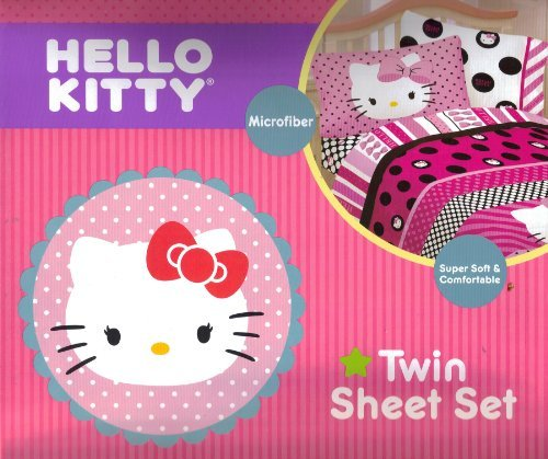 hello kitty twin sheets comforter sets pink bedroom decor for girls