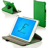 ForeFront Cases® New Apple iPad Air Rotating Leather Case Cover / Stand with Magnetic Auto Sleep Wake Function For New 2013 iPad Air + WiFi 16Gb, 32Gb, 64Gb, 128Gb - GREEN