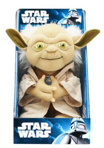 51UKxckygsL Underground Toys Star Wars 9 Talking Plush   Yoda
