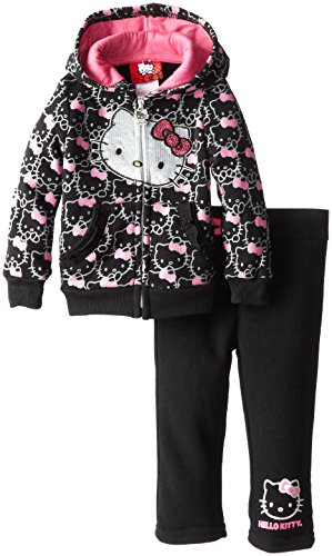 Hello Kitty Baby-Girls Infant Active Set, Anthracite, 12 Months front-1013169