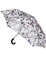 BB Designs Unisex Black and White Retro Marvel Comic Compact Umbrella