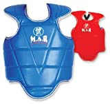 M.A.R International Ltd Chest Guard Mma Body Armour Muay Thai Training Shield Taekwondo Karate Chest Protector Abdominal Sparring Gear Boxing Equipment Kickboxing Supplies Reversible Red/Blue X Large Blue/Red X