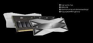 XPG DDR4 D60G RGB 16GB (2x8GB) 3000MHz PC4-24000 U-DIMM Desktop Memory (AX4U300038G16-DT60) (Color: Full RGB, Tamaño: 3000MHz)