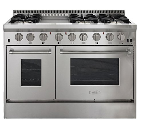 AGA-APRO48AGSS-48-Professional-Gas-Range-with-RapidBake-Convection-Stainless-Steel