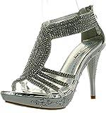Fabulous Delicacy-07 Sandals, Silver Pu, 8.5