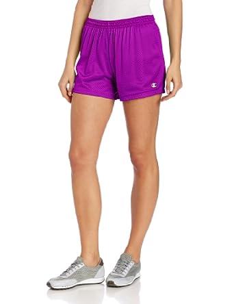 Champion Women's Mesh Short, Paradise Purple/Reef Blue, Small