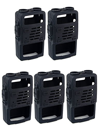 Retevis Rubber Soft Handheld 2 Way Radio Case Holster Protection for Baofeng BF-UV5R UV-5RV UV-5RE UV5R+ UV-985 Retevis RT-5R RT-5RV WalkIe Talkies (5 Pack)