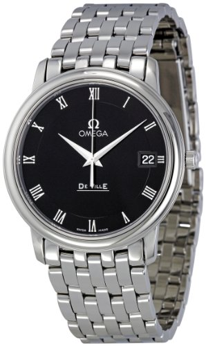 Omega Men's 4510.52 DeVille Co-Axial Black Dial Watch