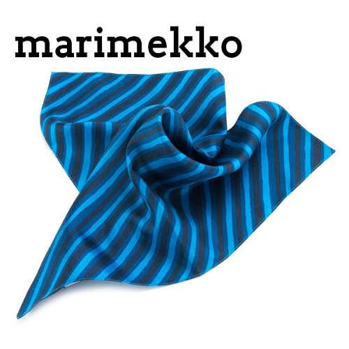 マリメッコ marimekko スカーフ レディース ハンカチ PETTERI ブルー 037311-586