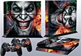 High-quality Custom Terrible Joker Sticker for PS4 Console and 2 Controller Skins Covers