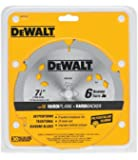 DEWALT DW3193 7-1/4-Inch 6 Tooth PCD Diamond Fiber Cement Saw Blade with 5/8-Inch and Diamond Knockout Arbor