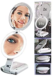 Ultimate Makeup Mirror 10X/1X Lighted - 10X/1X Ultimate Lighted Make-Up Mirror