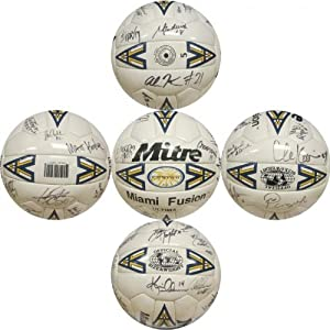 1998 Miami Fusion Autographed Mitre Miami Fusion Soccer Ball - Autographed... by Sports+Memorabilia